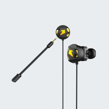 Armaggeddon WASP-5 Gaming Earphones with Dual Driver & Microphone   Free Y Splitter + Hard Pouch