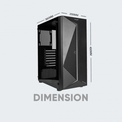Armaggeddon Nimitz N3 Excellent ATX Gaming PC Case with RGB Lightning Effect [Free Colour PC Cooling Fan]