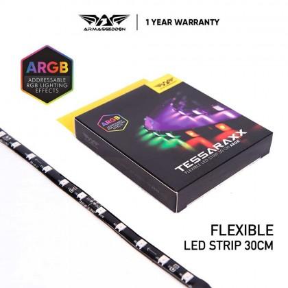 Armaggeddon Tessaraxx ARGB 30CM LED Strip | 6 Pin Connector | Programmable RGB | Use with Armaggeddon Control Board
