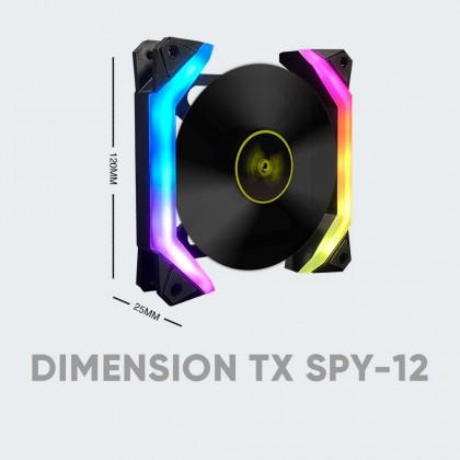 Armaggeddon Tessaraxx SPY Series ARGB Fan   Support Aurora Sync : ASUS / Gigabyte / MSI